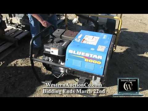 255 Miller BlueStar 6000 Gas Powered Arc Welder Generator