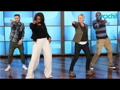 Michelle Obama Dances With Ellen DeGeneres...