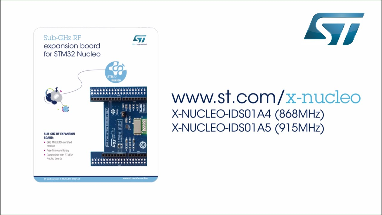 Getting started with Sub-Gigahertz RF expansion board (STM32 ODE,  X-NUCLEO-IDS01A4 )
