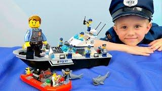 как сделать лего полицейский катер из лего