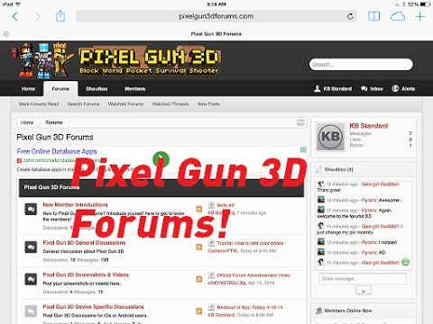 Pixel Gun 3D Forums/Wiki Pages (iOS/Android)