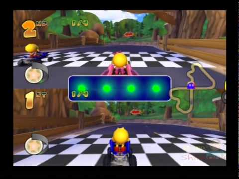 Pac Man Rally PS2 Multiplayer Gameplay [Cherry Cup]  ( Namco / Bandai ) Playstation 2