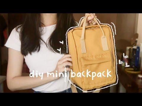 [ DIY ] KANKEN-inspired mini backpack || no sewing machine needed - YouTube