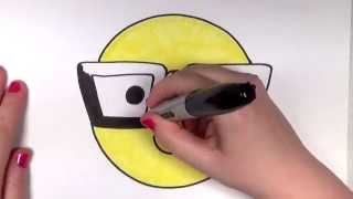 How to Draw a Smiley Face with Hipster/Nerd Glasses | CC