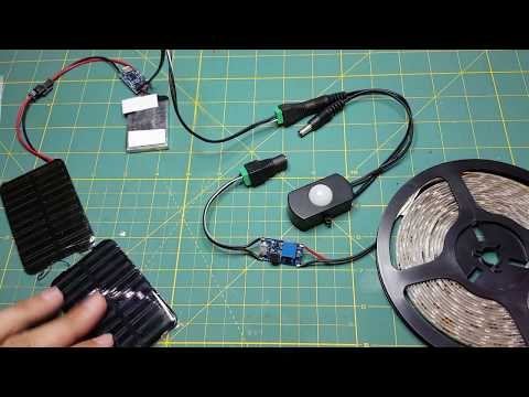Solar light with motion sensor