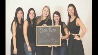 Sigma Kappa Boston University - Recruitment 2014