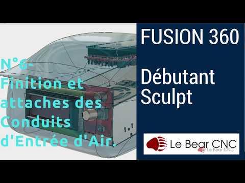 Finition Entrées d'Air, Réalisation d'Attaches - Débutant Sculpt N°5 - Autodesk Fusion 360 Français