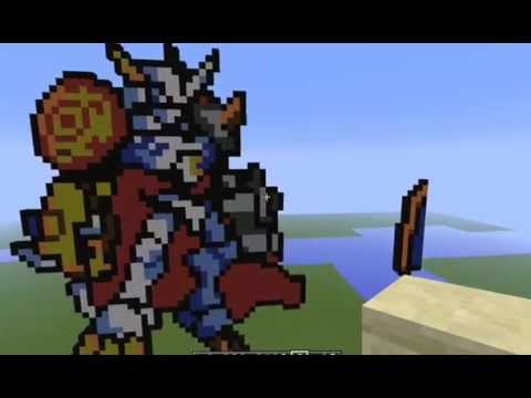 Minecraft pixelart Pokemon/Digimon - YouTube