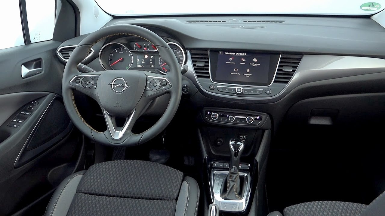 2017 opel crossland x interior youtube. Black Bedroom Furniture Sets. Home Design Ideas