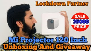 Mi/Xiaomi Smart Projector Unboxing|| HD 120 inches just 35000 only || Giveaway and Review||