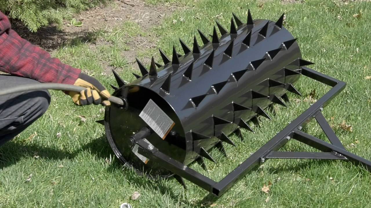 Strongway Drum Spike Aerator 36in W 78 Spikes Youtube
