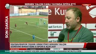 Sergen Yalçın canlı yayında istifa etti - A Spor