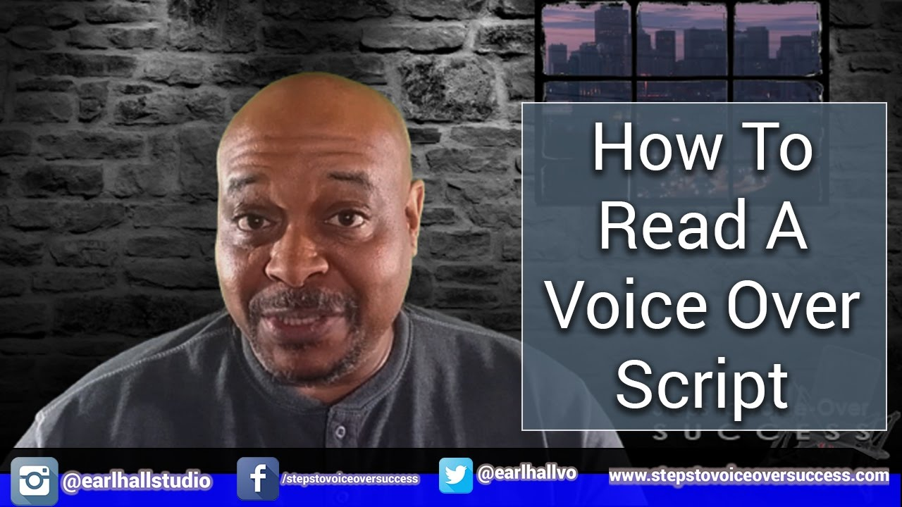 Repeat How To Read A Voice Over Script by Earl Hall Studio