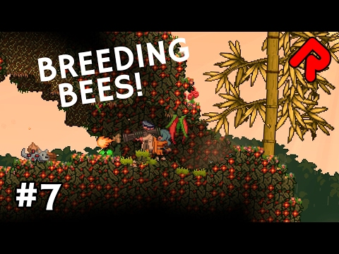 Breeding Bees & Crafting Radiation Shield | Let's Play Starbound Frackin'  Universe mod ep 7