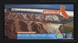oroville dam ca rain proof flooding is manmade