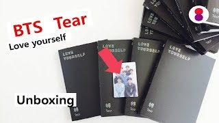 Unboxing BTS Tear Love yourself 3rd album 방탄소년단 스페셜 포토 카드 (포카) 防弾少年団 special limited photocard
