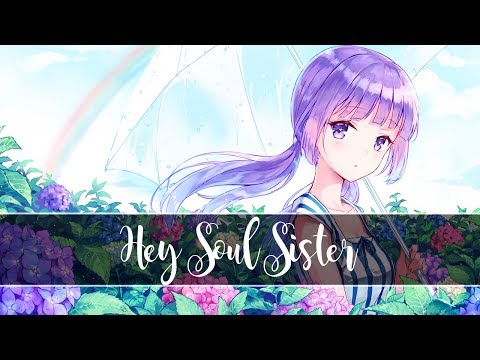 Nightcore - Hey Soul Sister (Train cover by MARILOU) ♥ ANIMATED - Thanks for 100 subs! ♥