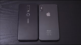 Nokia X6 vs iPhone X - Speed Test!