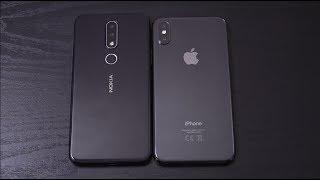 Nokia X6 vs iPhone X - Speed Test!
