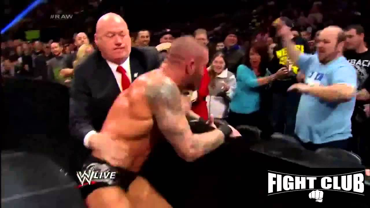 Randy Orton Attack John cena's Father 2014 - YouTube