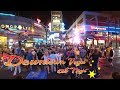 Las Vegas Downtown Fremont Street - casual walk through night time
