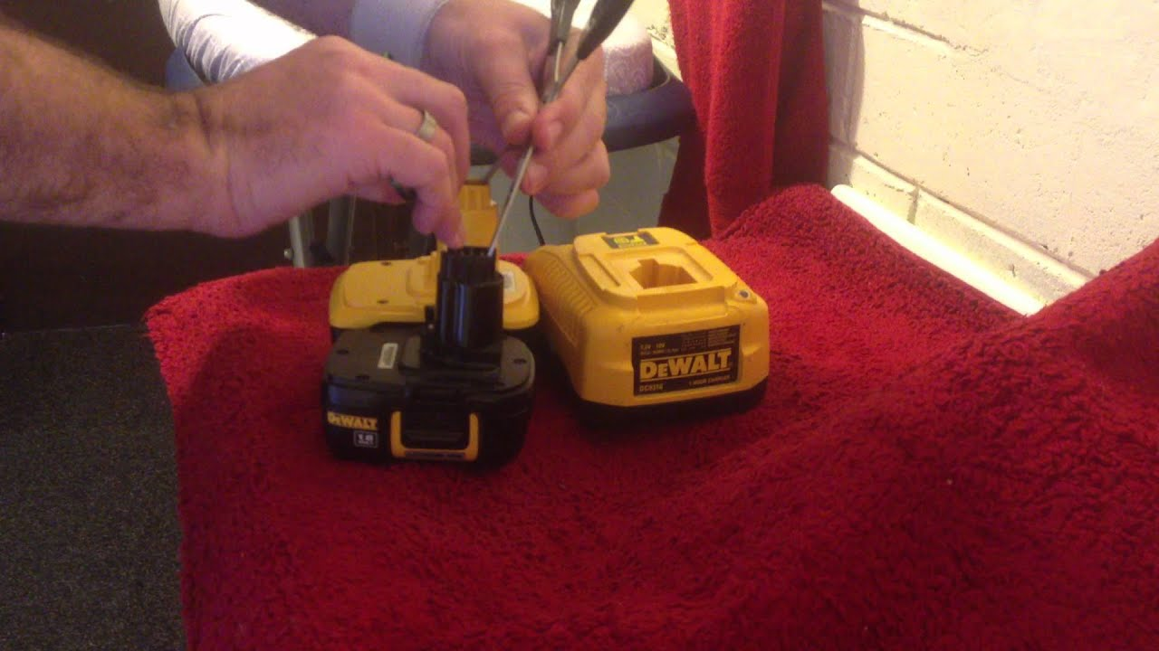 dewalt battery wont or will not charge this may fix it
