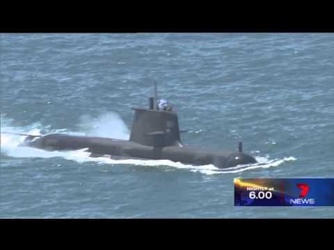 Collins-class submarine, near Sydney