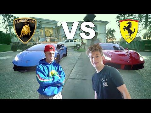 I RACED JAKE PAUL **LAMBORGHINI VS. FERRARI**