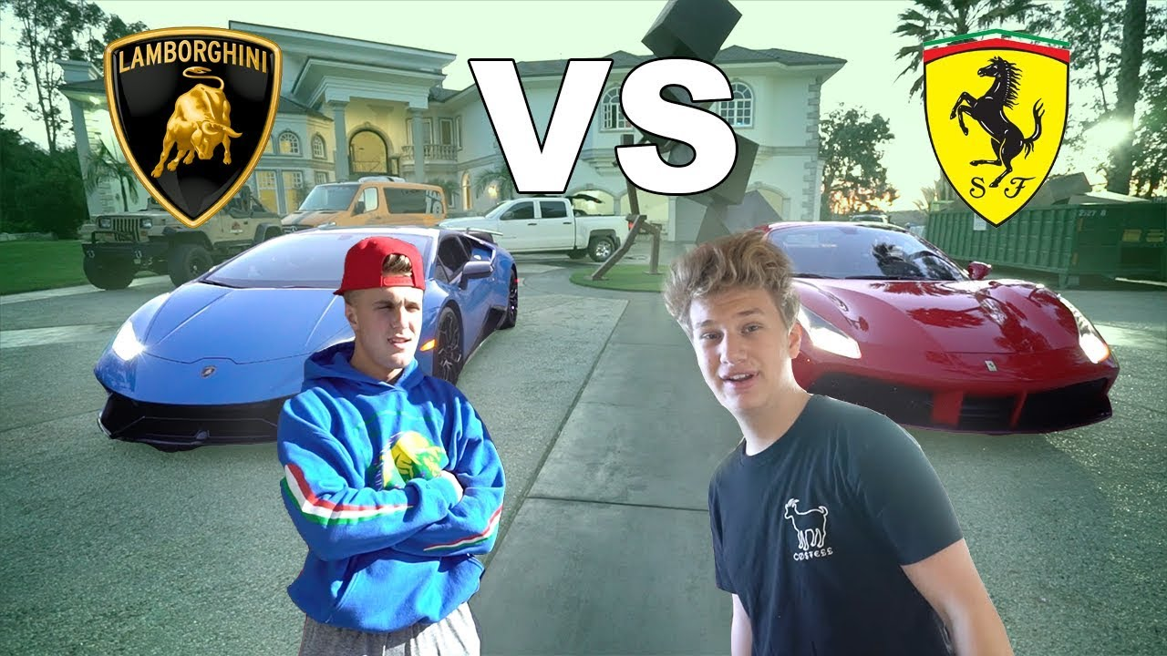 I Raced Jake Paul Lamborghini Vs Ferrari Youtube