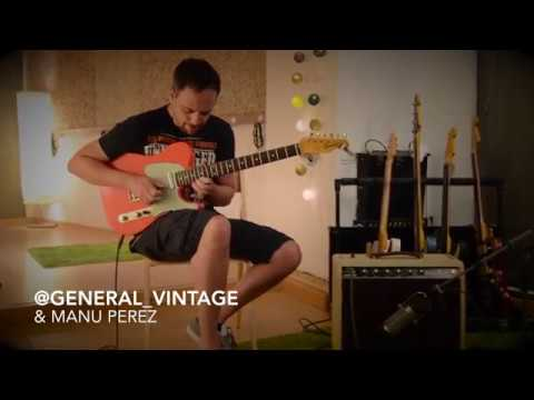 "General ""Television"" 1961 Fiesta Red slab board by Manu Perez -Vintage PRE CBS electric guitar"
