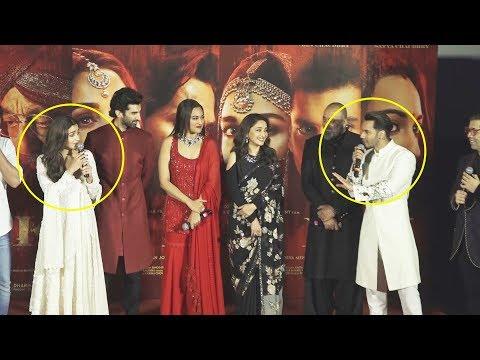 Varun Dhawan And Alia Bhatt FIGHTS On Stage  😂 At Kalank Teaser Launch