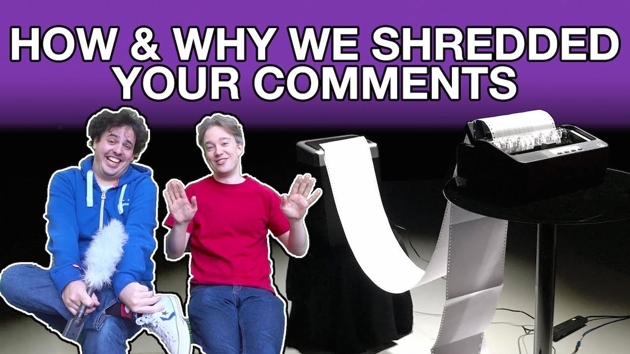 Youtube Thumbnail Image: How and Why We Shredded Your Comments