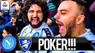 POKER!!! NAPOLI 4-0 FROSINONE | LIVE REACTION SAN PAOLO 4K