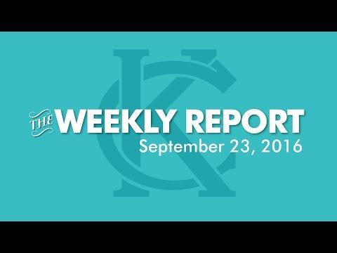 The Weekly Report - September 23, 2016 - City of Kansas City, Missouri