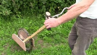Quick Weeding With Homemade Strimmer / Weeder Machine Thingy