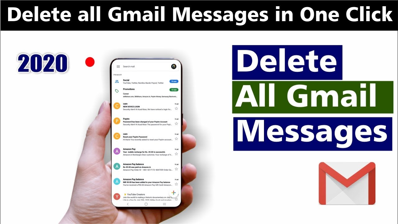 How to remove all gmail massages at once | Delete all email in one click on android phone