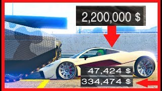 How much DAMAGE will a TANK do to a CEO Import Export Car / Vehicle , GTA 5 Online