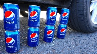 Crushing Crunchy & Soft Things by Car! - EXPERIMENT: PEPSI VS CAR by Crazy Factory