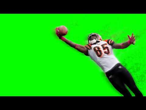 NFL Football Player Effects Fly - Green Screen Footage Free