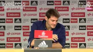Iker Casillas in lacrime durante l