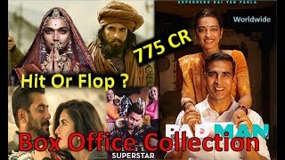 Box Office Collection Of Padman , Padmaavat, Tiger Zinda Hai, Secret Superstar Movie 2018