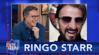 "Ringo Starr Says ""Peace And Love"" Every Day And Still Believes In The Message"