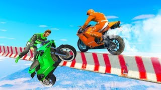 MOST DANGEROUS MILE HIGH SKILL TEST! - GTA 5 Funny Moments