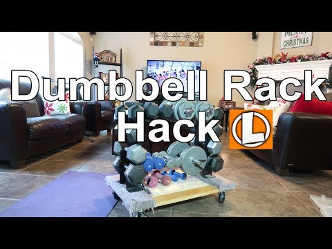 DIY Dumbbell Weight Rack Hack - Wheeled