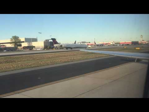 Delta Airlines MD-88 Landing + Taxi at Atlanta Hartsfield-Jackson International Airport