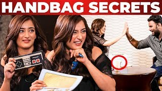 Akshara Haasan Handbag Secrets Revealed by VJ Ashiq | Whats Inside The Handbag