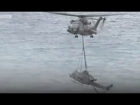 06 jan 2018 / Bell UH-1Y Venom USMC / Mechanical issue / Ikei island - Okinawa prefecture - Japan