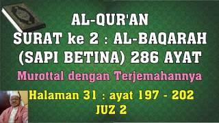 Al Qur an hal 031 Al Baqarah ayat 197 202