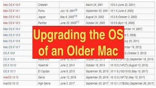 Upgrading the Operating System of an Older Mac