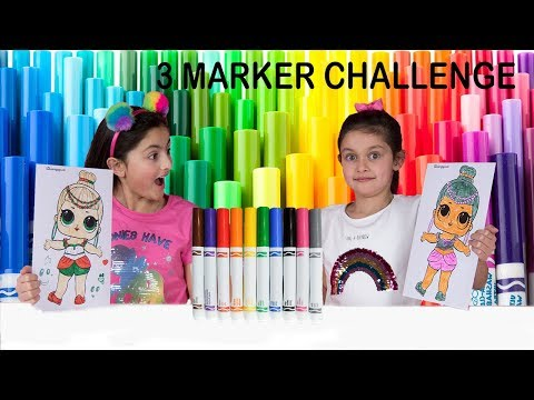 3 MARKER CHALLENGE! SIS vs SIS  With LOLs